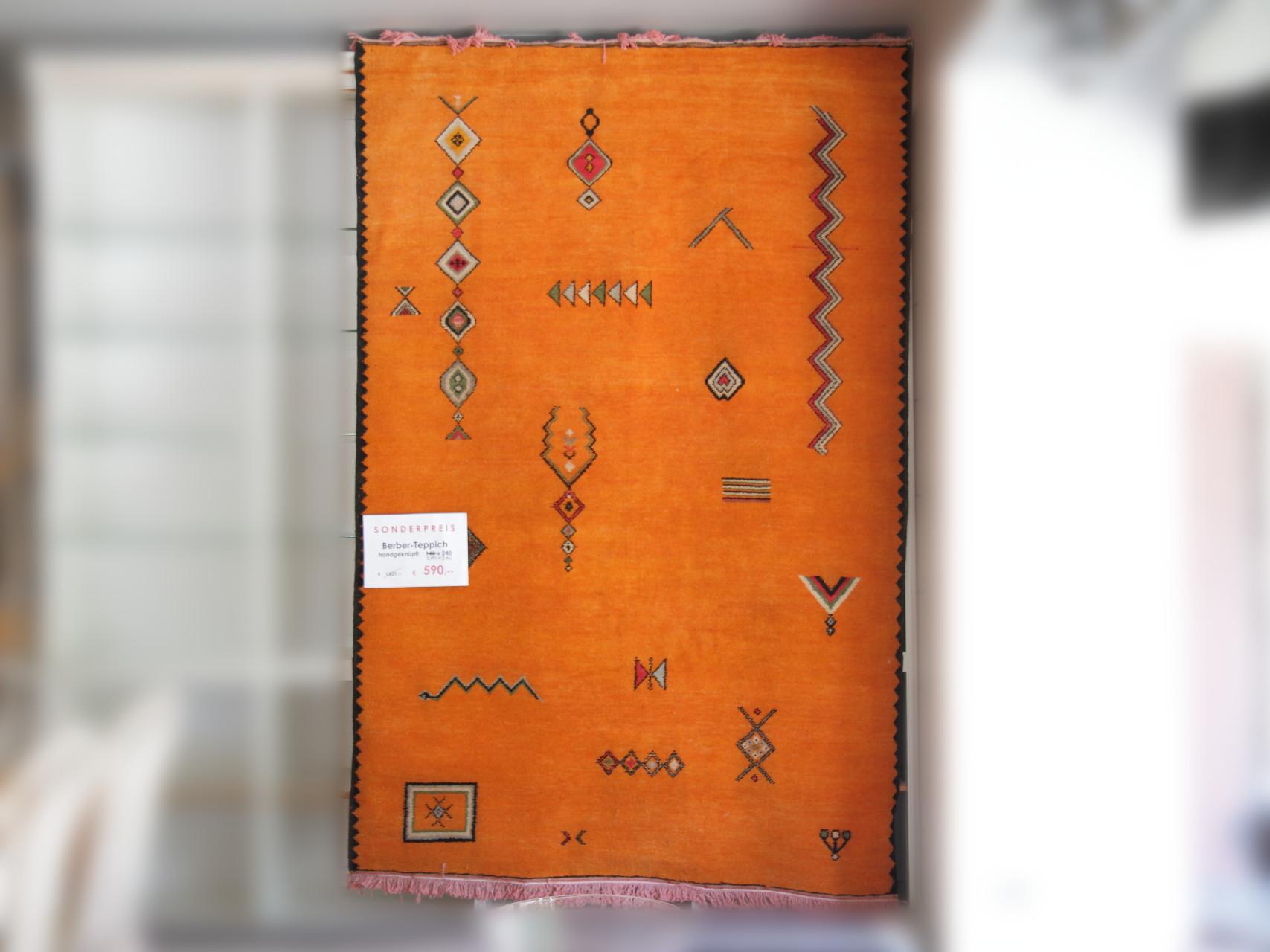 Berberteppich aus Marokko, handgeknüpft, Größe 160x240cm